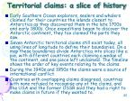 territorial claims a slice of history
