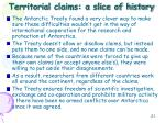 territorial claims a slice of history1