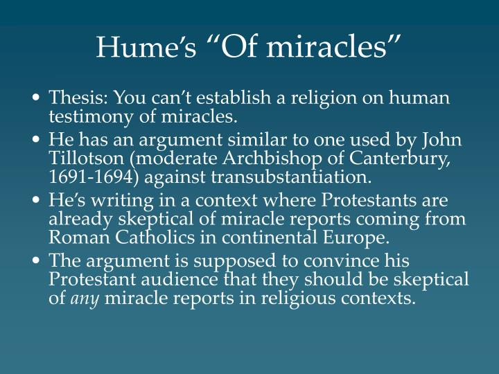 hume s of miracles n.