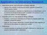 application to university research1