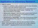 application to university research2