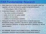itar fundamental research