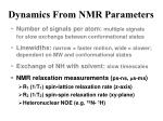 dynamics from nmr parameters9