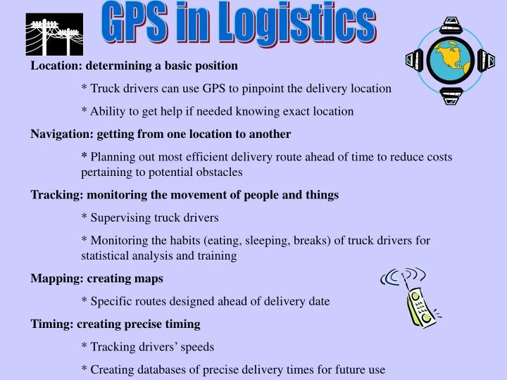 GPS in Logistics