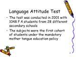 language attitude test