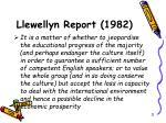 llewellyn report 1982