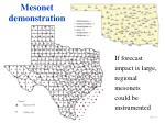 mesonet demonstration