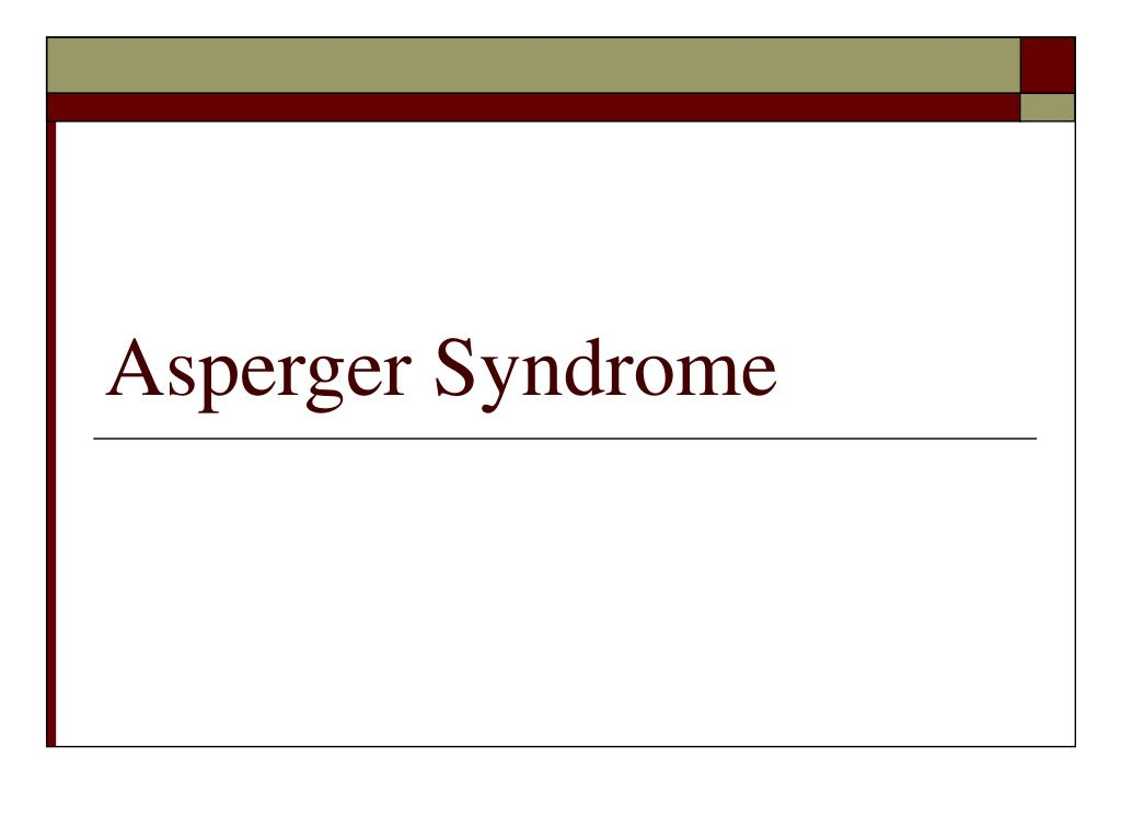 asperger syndrome l.
