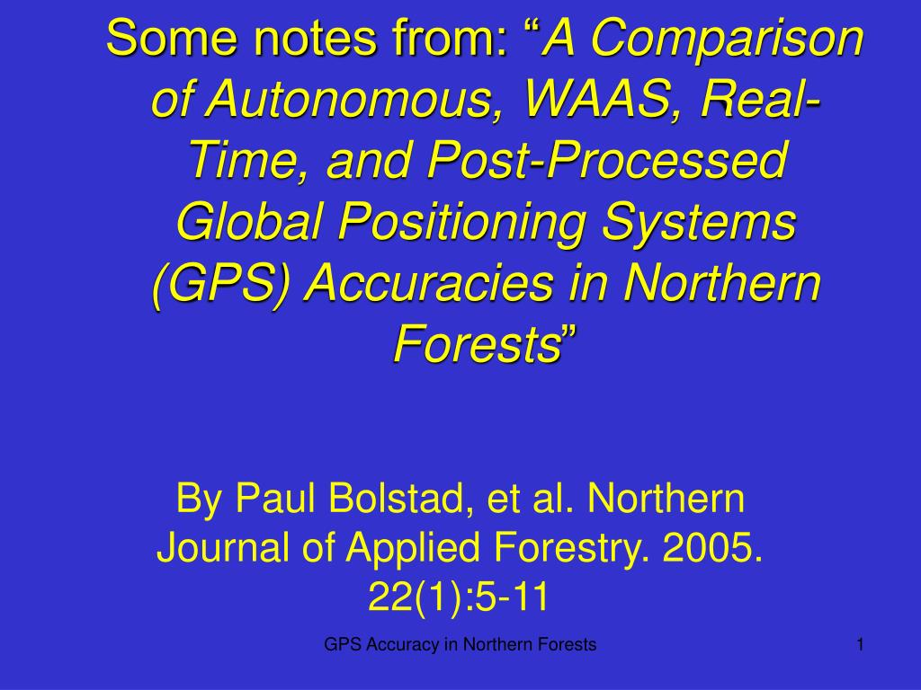 by paul bolstad et al northern journal of applied forestry 2005 22 1 5 11 l.
