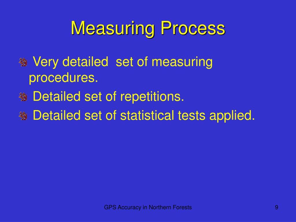 Measuring Process