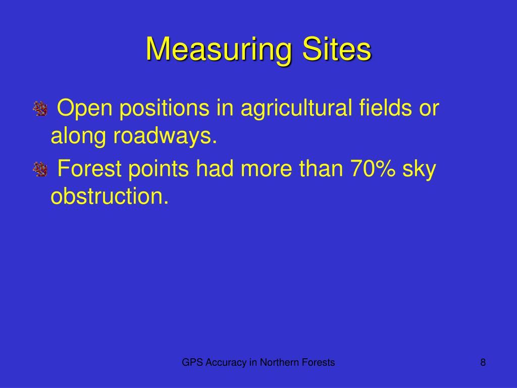 Measuring Sites