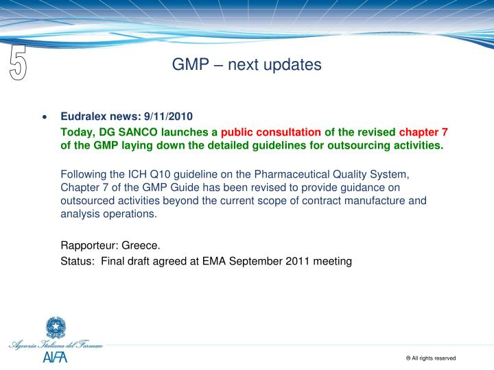 who gmp guidelines for api