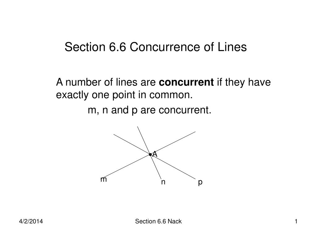section 6 6 concurrence of lines l.