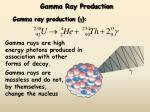gamma ray production11