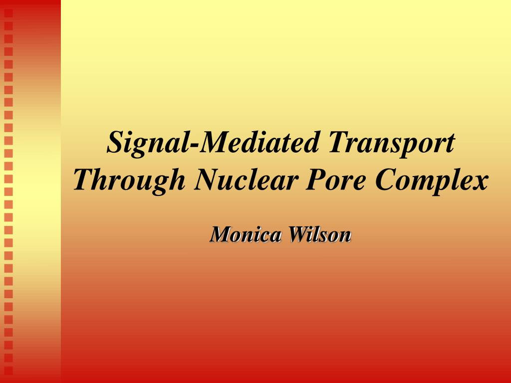 signal mediated transport through nuclear pore complex l.