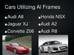 cars utilizing al frames