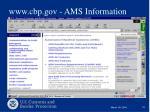 www cbp gov ams information