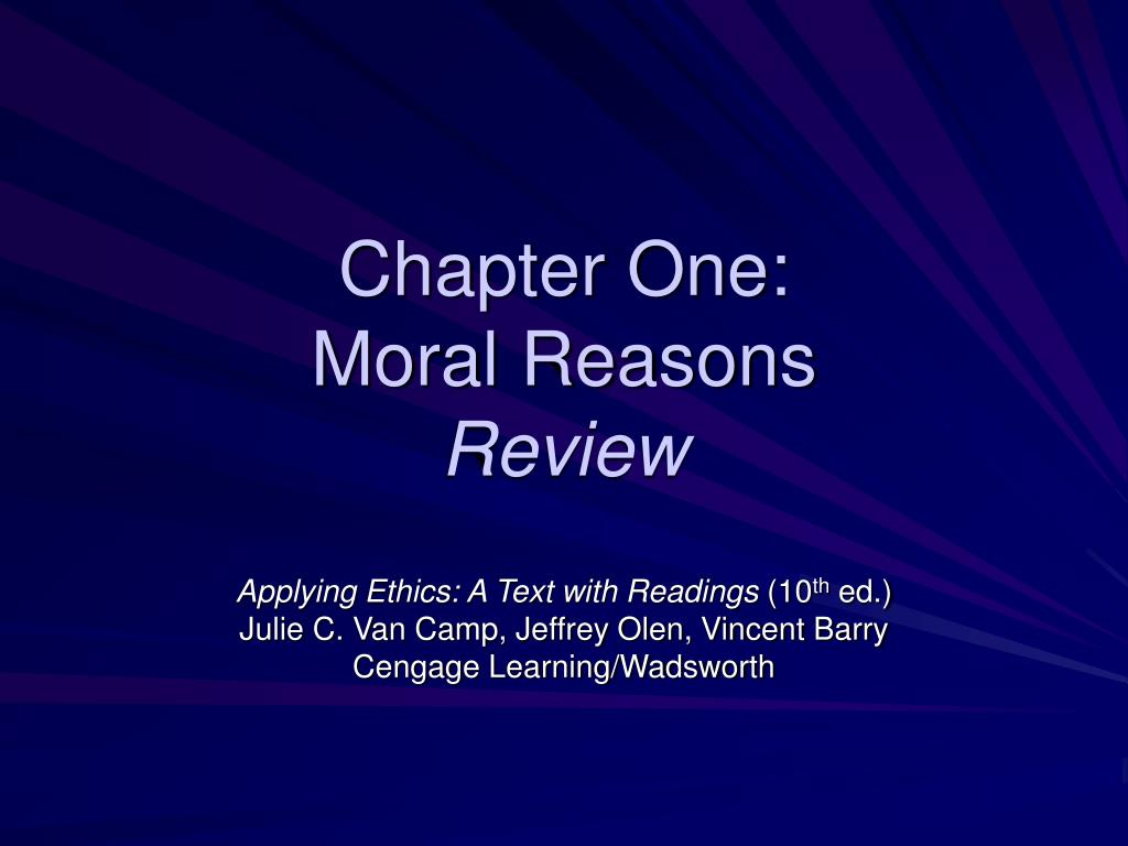 chapter one moral reasons review l.