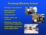 tracking machine control