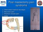 post mastectomy pain syndrome