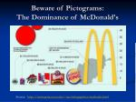 beware of pictograms the dominance of mcdonald s