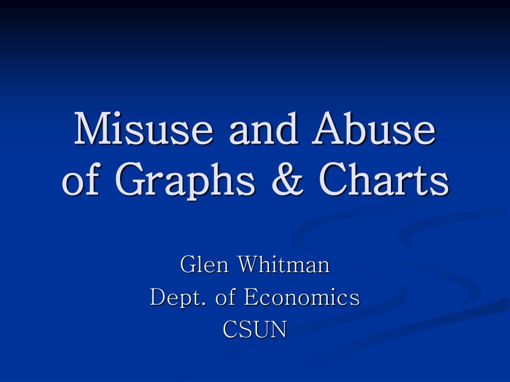 misuse and abuse of graphs charts l.