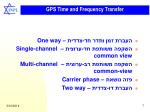 gps time and frequency transfer