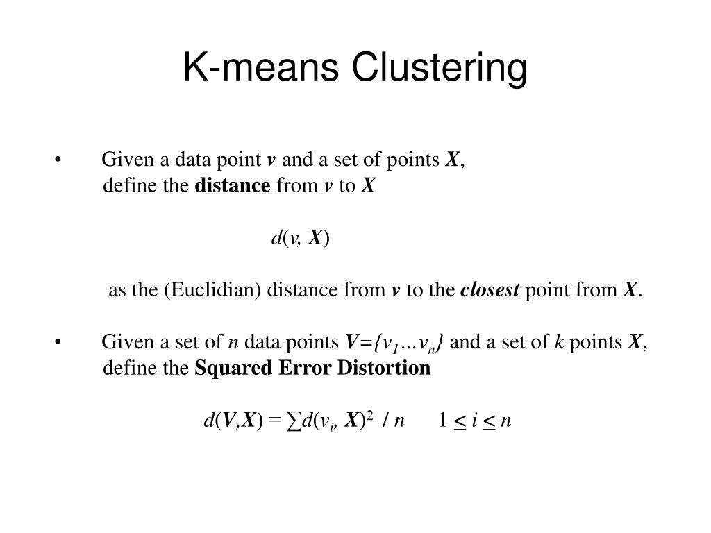 k means clustering l.