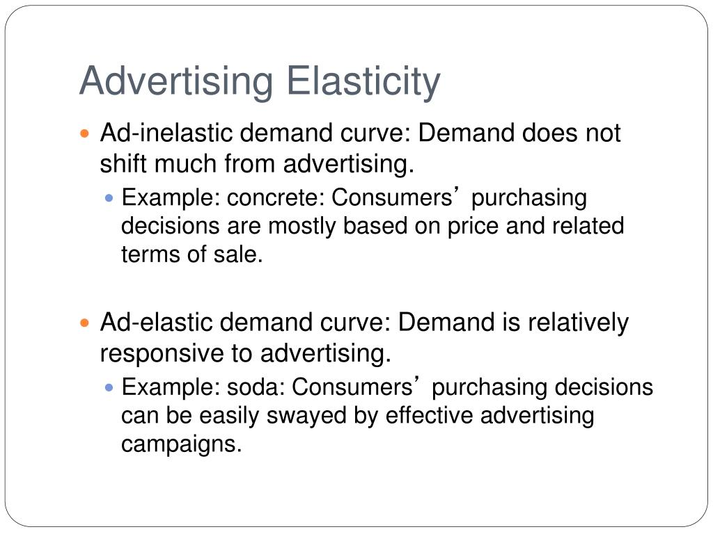 Ppt Lecture 3 Advertising Elasticies Powerpoint Presentation