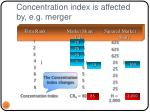 concentration index is affected by e g merger22