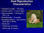 goat reproduction characteristics