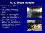 u s sheep industry
