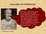 isocrates on hellenism