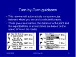 turn by turn guidance