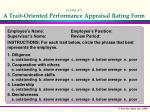exhibit 4 5 a trait oriented performance appraisal rating form