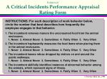 exhibit 4 8 a critical incidents performance appraisal rating form