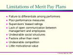 limitations of merit pay plans