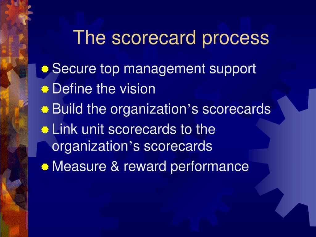 The scorecard process