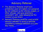 advisory referee