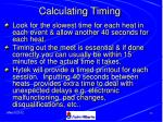 calculating timing