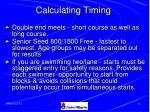 calculating timing45
