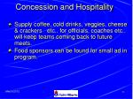 concession and hospitality