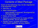contents of meet package
