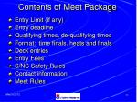 contents of meet package35