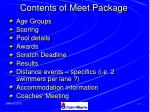 contents of meet package36