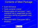 contents of meet package37