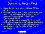 decision to host a meet11