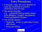 entry procedures
