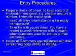 entry procedures39