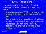 entry procedures40